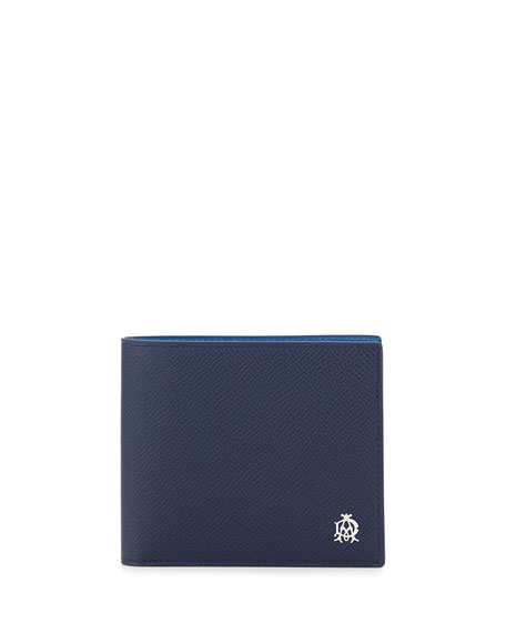 Alfred Dunhill Bourdon 8CC Billfold Wallet, Blue
