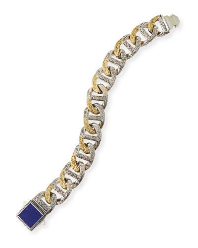 Men's Myrmidones Lapis Link Bracelet