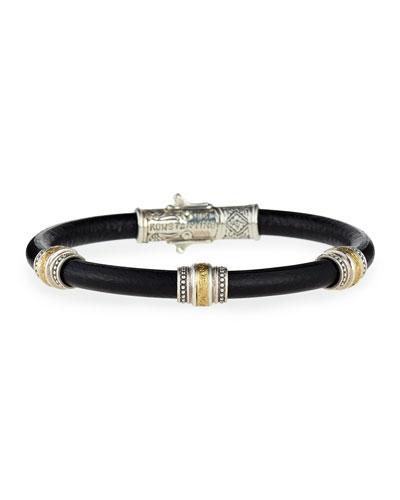 Phidias Men's Leather Cord Bracelet