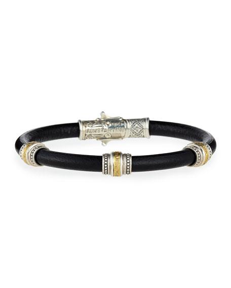 Konstantino Phidias Men's Leather Cord Bracelet