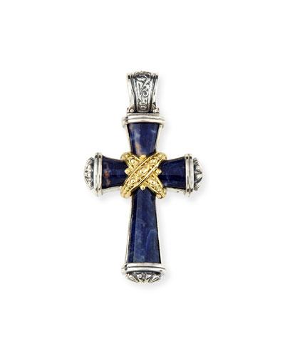 Sparta Men's Sodalite Cross Pendant