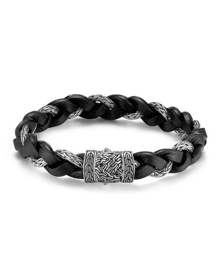 John Hardy Men's Classic Chain Silver Braided Bracelet