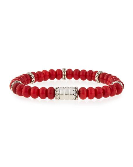 John Hardy Men's Batu Bedeg Coral Beaded Bracelet