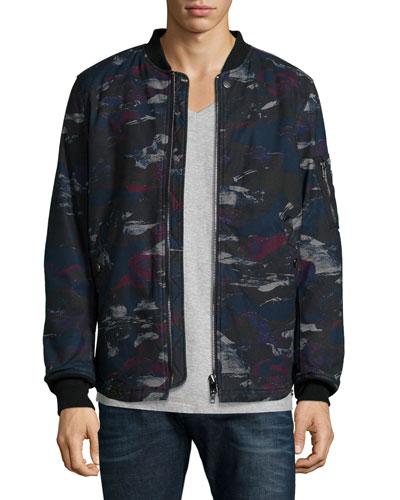 Dark Camo-Print Padded Jacket
