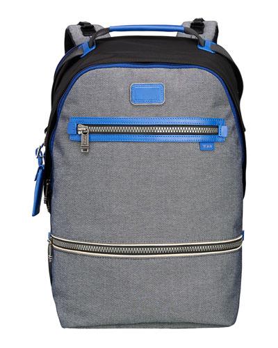 Cannon Nylon Backpack, Black/Gray