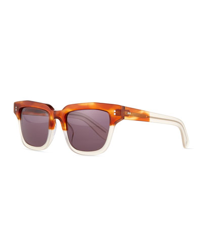 Dart Square Sunglasses, Tortoise Multi