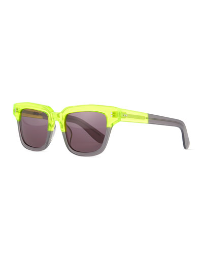 Dart Square Sunglasses, Neon Yellow Multi
