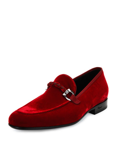 Lord 2 Velvet Slip-On Loafer, Red