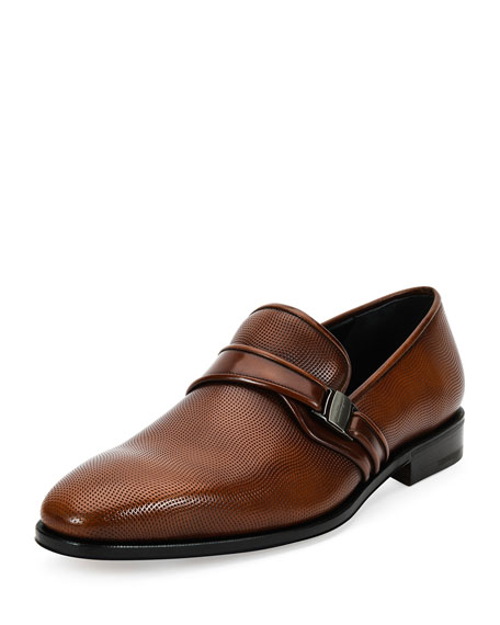 Salvatore Ferragamo Nygel 2 Textured Leather Loafer with