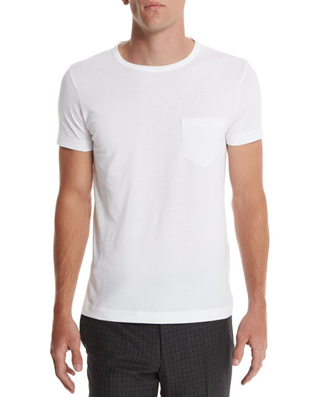 TOM FORD Crewneck Short-Sleeve T-Shirt, White