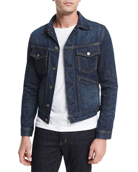 TOM FORD Western Denim Jacket, Blue