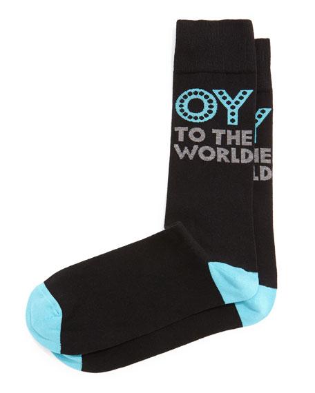 Jonathan Adler Oy To The World Printed Socks,