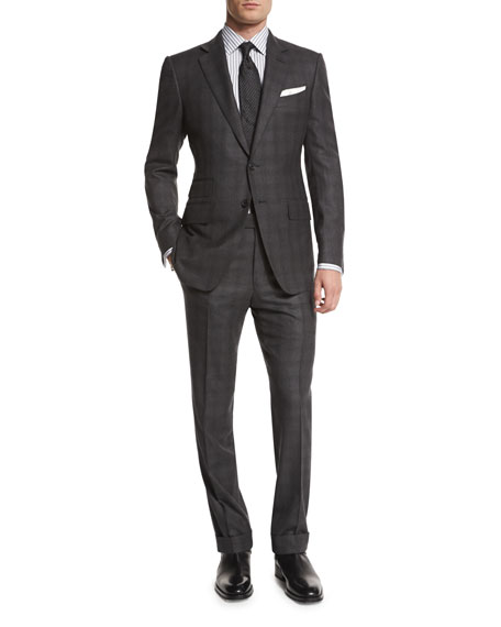TOM FORD O'Connor Base Tonal Plaid Two-Piece Suit,