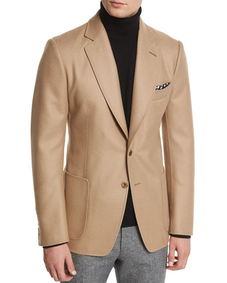 TOM FORD O'Connor Base Solid Jacket, Camel