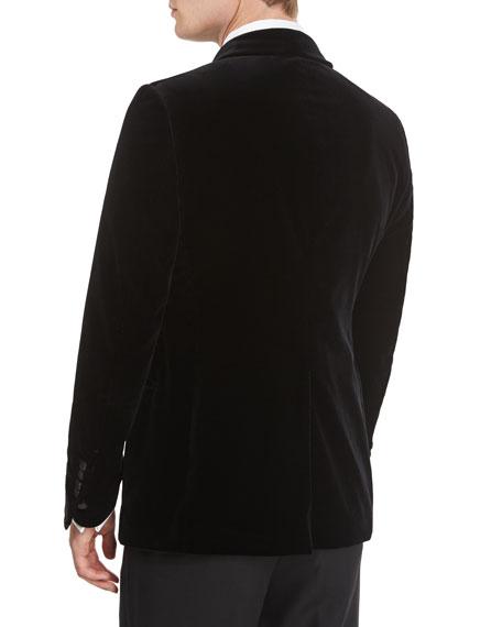 Buckley Base Peak-Lapel Tuxedo Jacket, Black