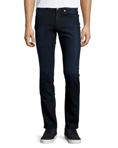 Max Groza Skinny Jeans, Black/Blue