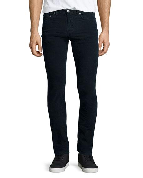 Acne Studios Ace Cord Skinny Denim Jeans, Navy
