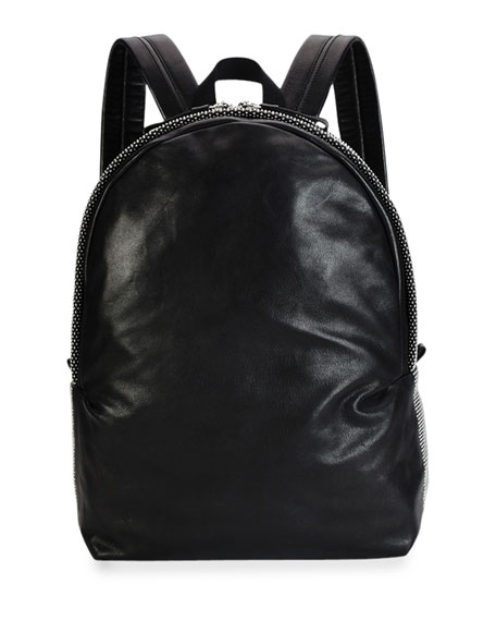 Alexander McQueen Men's Studded Leather Backpack, Black