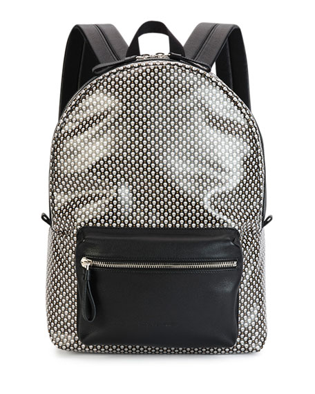 Alexander McQueen Mini-Skull Printed Backpack, Black