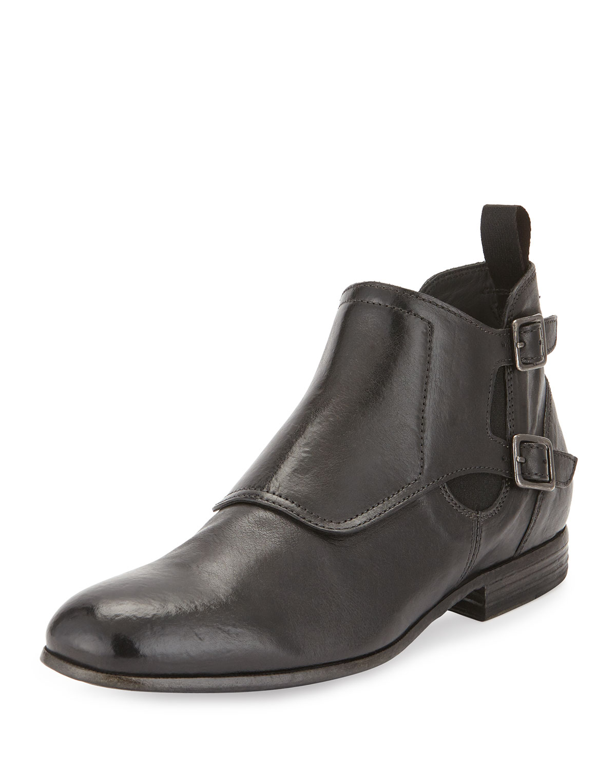 Leather Monk-Strap Boot