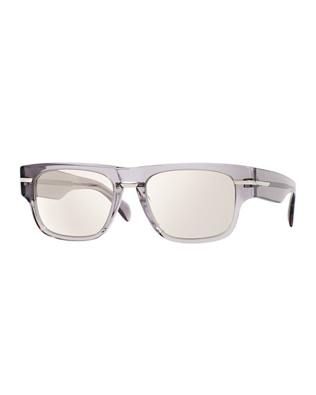 Oliver Peoples Public School 55 Acetate Sunglasses, Silver