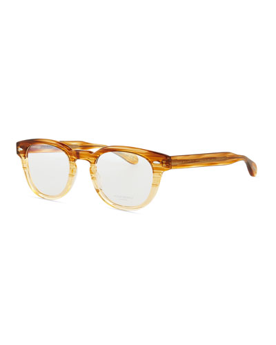 Sheldrake Streaked Fashion Glasses, Oak, Men