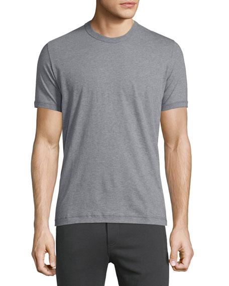 Dolce & Gabbana Short-Sleeve Crewneck Jersey T-Shirt, Gray