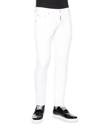 Clement Skinny-Fit Denim Jeans, White