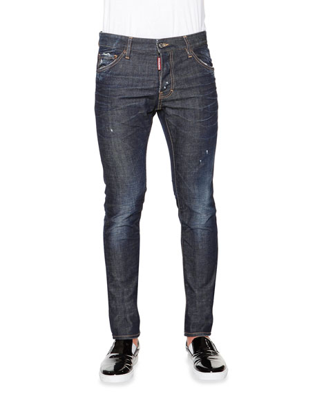 Dsquared2 Cool Guy Distressed Denim Jeans, Dark Blue