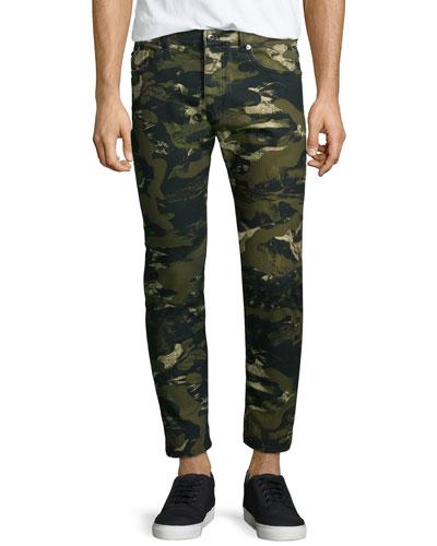 Camo-Print Slim Jeans