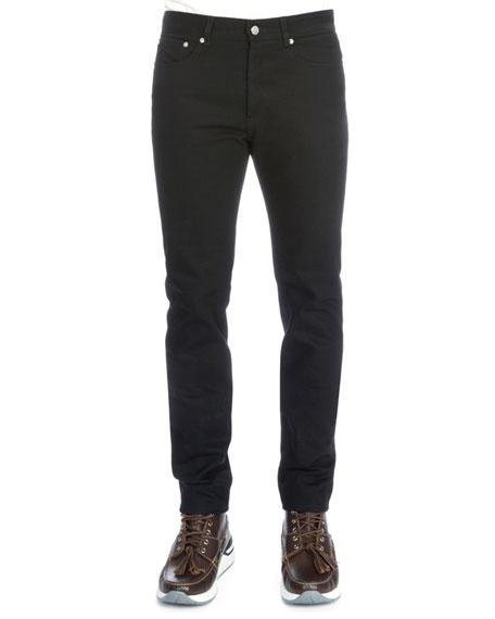 Givenchy Studded Back-Pocket Denim Jeans, Black