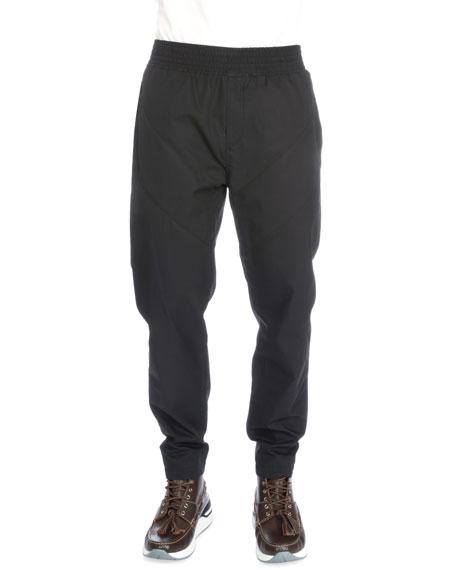 Givenchy Chevron-Inset Jogger Pants, Black