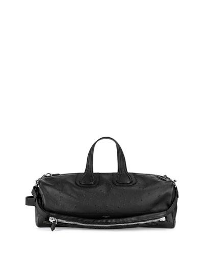 Nightingale Men's Distressed Duffel Bag, Black