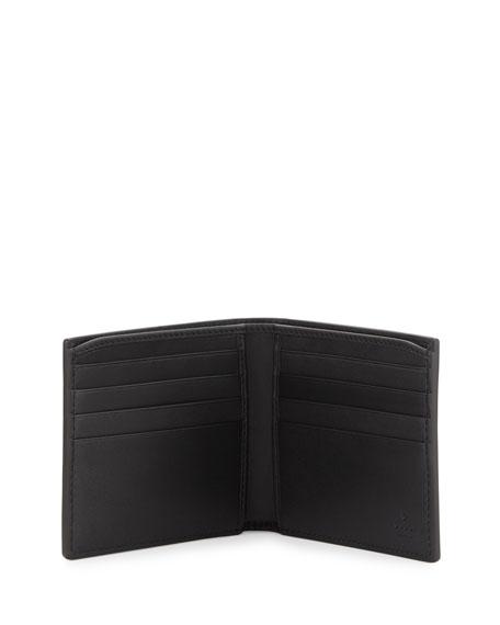 Elastic Leather Wallet, Black
