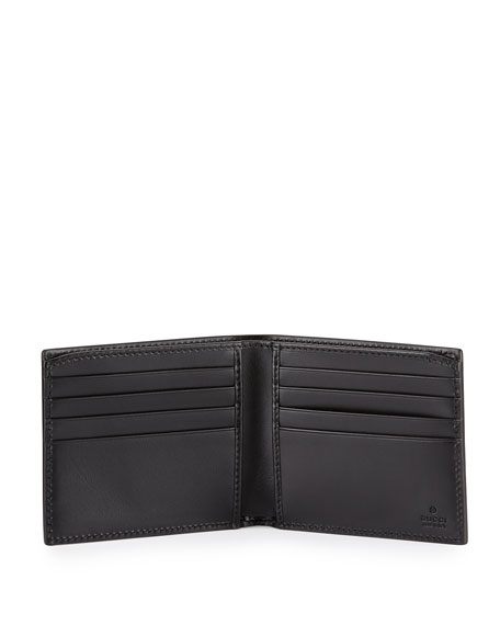 Alveare GG Leather Bi-Fold Wallet, Blue