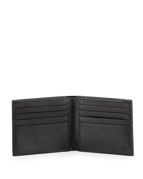 Alveare GG Leather Bi-Fold Wallet, Blue