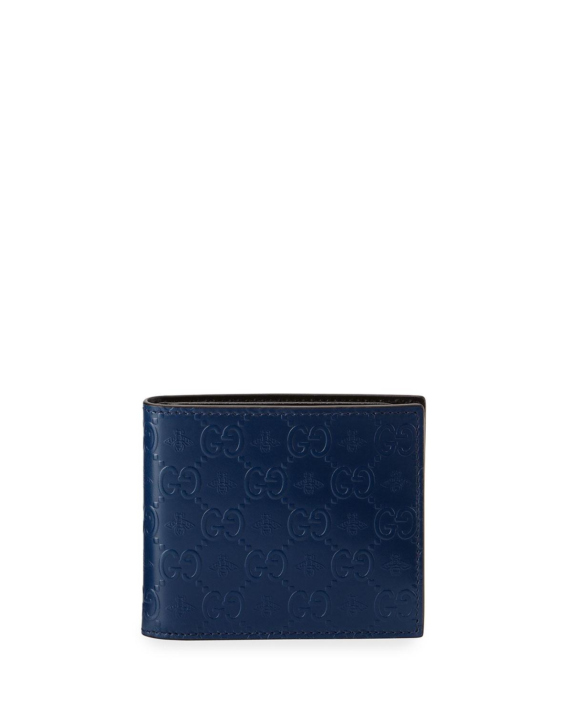 41b70a24665 Gucci Alveare GG Leather Bi-Fold Wallet