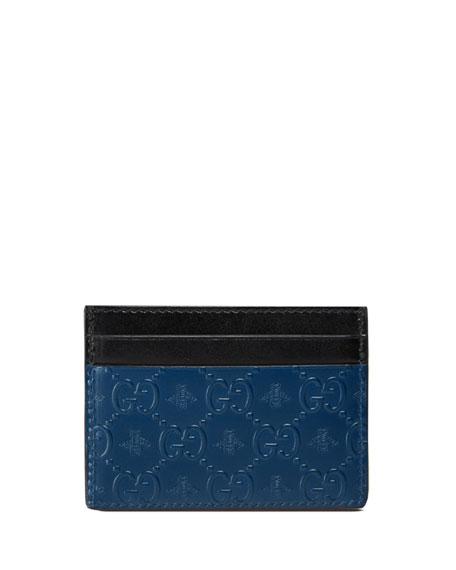 Gucci GG Alveare Card Case, Blue