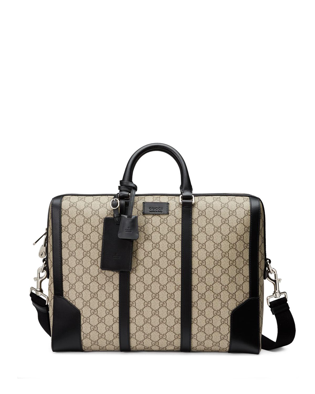 8d10235d2a69 Gucci Eden GG Supreme Canvas Briefcase, Beige | Neiman Marcus
