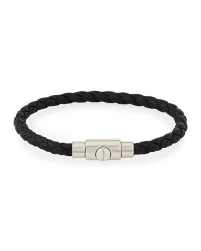 Men's Braided Leather Bracelet, Brown