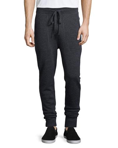 Merino Wool Sweatpants, Charcoal