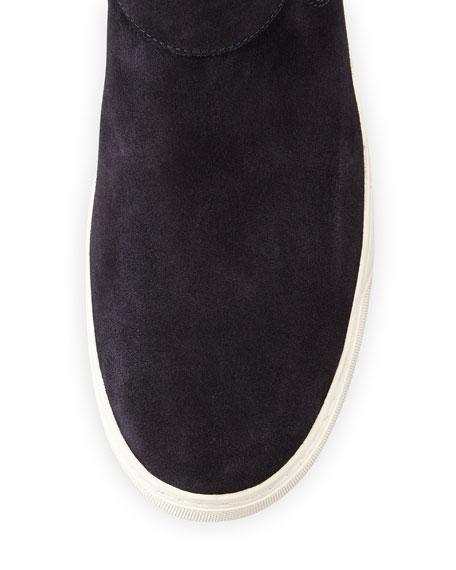 Belmont Men's Suede High-Top Sneaker, Navy