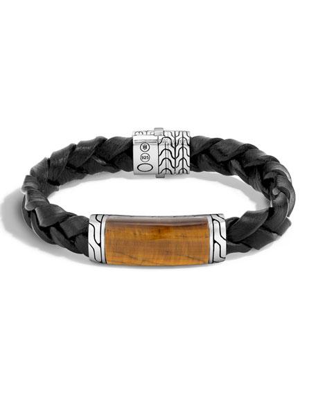 John HardyTigers Eye Classic Silver Station Bracelet, Black