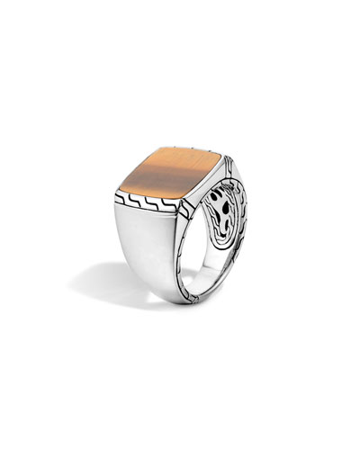 Silver Signet Ring with Tigers Eye