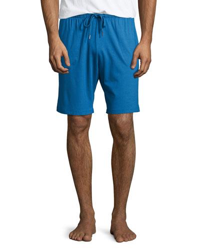 Jersey Lounge Shorts, Blue