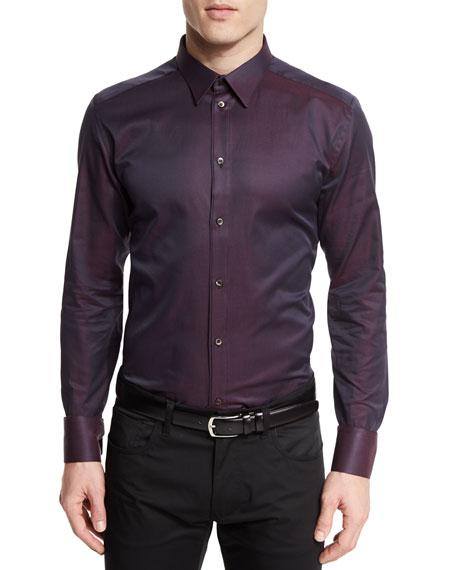 Dolce & Gabbana Iridescent Long-Sleeve Woven Sport Shirt,