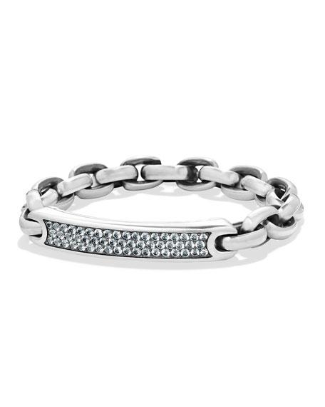 Men's Streamline Link Sapphire ID Bracelet