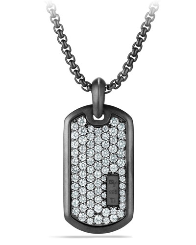 Pave Sapphire Tag