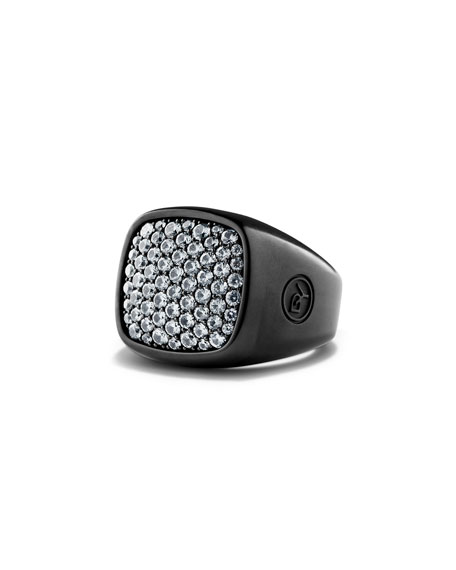 Pave Sapphire Signet Ring