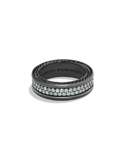Men S Two Row Band Ring With Shire